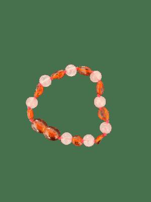 Barnsteen armband roze