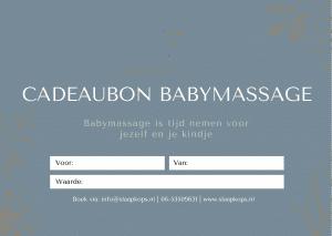 Cadeaubon babymassage